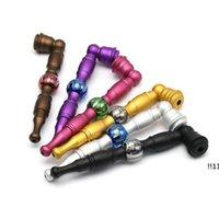 Портативный комплект дыма матовый металлический труб съемный арбуз бусины для курения атрибутика табачных труб длиной 135 мм EWE5558