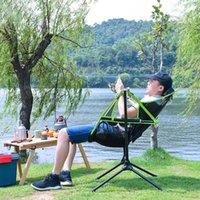 Faltbare Außenstuhlgarten Swing Beach Tragbare Heimatmond Mit Kissen Für Camping Angeln BBQ Picknick Zubehör