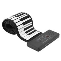 88Keys Roll Up Piano Keyboard with Pedal Portable Keyboard Environmental Silicone Piano Keyboard for Kids Adults EU Plug