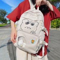 حقيبة الظهر Kawaii الدب طباعة اليابان backapck جميلة مضحك schpool أكياس اليومية تذوق من واضح مراهق عسلي كلية حزمة السفر لييور