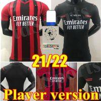 Jogador Versão 21 22 2 2 22 AC Milan Home Away 3ª Jerseys de Futebol 2021 2022 Ibrahimovic Tonali Paqueta Camisa de Futebol Bennacer Rebic Romagnoli