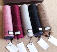 Venta al por mayor de lujo de invierno bufanda pashmina para mujeres hombres diseñadores de marca caliente 100% lana bufandas de alta calidad de alta calidad envoltura 5 colores
