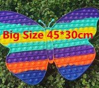 EU estoque super grande !! Tamanho 45cmx30cm Toy Arco-íris Borboleta Borboleta Bubble Fidget Brinquedos Stress Relief Autism precisa de presentes de crianças
