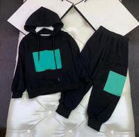 2021 Designers Kids Autumn Winter plus velvet Clothes Sets Boys Girls jacket coat trousers Tracksuits Outdoor Children Sports hoodie Suit Baby Boy Sportswear