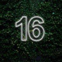 기타 이벤트 파티 용품 LED 16 네온 사인 생일 장식 사용자 정의 만든 벽 조명 웨딩 샵 창 레스토랑 장식