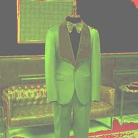 Men's Suits & Blazers Men Groom Tuxedos Notched Big Lapel Groomsmen Custom Made Slim Fit Man Suit Wedding Bridegroom