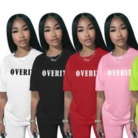 2 Piece Sets Outfis Womens Tracksuits Tracksuit T Shirt And Biker Shorts Set Casual Sportswear Fitness Summer Clothes