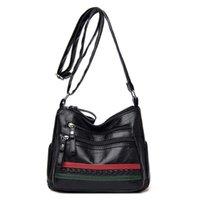 Longliblight سيدة خفيفة المألوف الكتف حقيبة بو الجلود الفاخرة متعددة الجيب تصميم امرأة حقيبة crossbody المرأة عارضة حقيبة Q0713