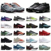 أحذية nike air max tn 3 airmax plus 2 tuned حار بيع الكلاسيكية رجل إمرأة الاحذية tn 3 ثلاثية أسود أبيض  ليزر أزرق رمادي الرجال أحذية رياضية الركض المدربين