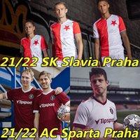 21/22 AC Sparta Praha Futebol Jerseys SK Slavia Praha República Checa 2021 2022 Doccal Hlozek S.Tecl O.Kudela Petar Musa Romania Stanciu Camisa de Futebol Alta Qualidade