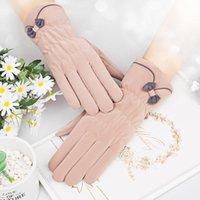 Five Fingers Gloves Ladies Winter Plus Velvet Warm Touch Screen Thickening Ski Sports Skin Feeling