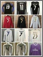 Uzun Kollu 2013 2014 Real Madrid Futbol Formaları 2010 2011 2012 13 14 15 16 17 18 Ronaldo Retro Futbol Gömlek Vintage Isco Maillot Sergio Ramos Benzema Camiset