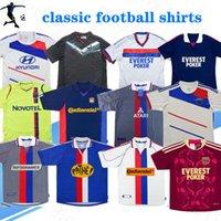 2000 2001 2002 2008 2009 2010 2011 2012 2013 Retro Jerseys de fútbol Lyon Jersey Vintage Maillot de Foot Juninho 00 01 02 11 12 13 Pjanic Benzema Classic Football Shirts