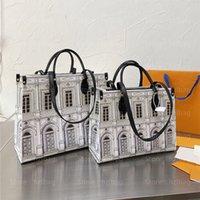 Auf dem Go Cross Body Bag Architettura Tragetaschen Fornasetti Business-Shopping-Tasche Onthego MM Luxurys Designer-Taschen