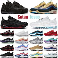 97 sean wotherspoon şeytan 97s erkek ayakkabı Üçlü Beyaz Siyah MSCHF x INRI İsa açık erkekler kadınlar eğitmenler spor ayakkabı