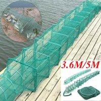 3,6m / 5m Nylon Pesca Rede Dobrável Portátil Crayfish Lagostfish Lobster Armadilha Live Trap de Peixe Camarão Camarão Acessórios Isca
