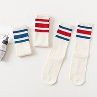 New Fashion South Korea Ulzzang Striped High Street Tube Socks Simple Men and Women Couple Sports Cotton Socks Three Bars Tide Socks