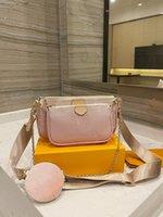 Multi Pochette Accessoires Dernières Color Crossbody Sac 2021 Designers de haute qualité Messenger Mode Femme Sac à main Été Luxurys Brands Sacs à bandoulière