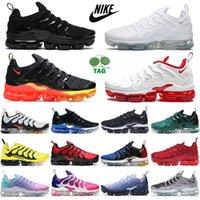 Nike air vapormax tn plus running shoes for men women Fresh Triple Black White Atlanta Lemon Lime Pure Platinum Bred mens trainers sports sneakers size us 13