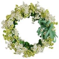 الباب الاصطناعي إكليل الربيع اليدوية زهرة للجدار الأمامي نافذة حفل زفاف مزرعة ديكور المنزل ديكور الزهور