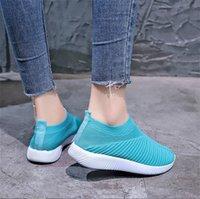 Kadın Örgü Çorap Ayakkabı Paris Tasarımcı Sneakers Düz Platformu Hafif Eğitmenler Yüksek En Kaliteli Mesh Rahat Rahat Ayakkabılar 7 Renkler 007