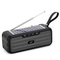 Solar Charge Speaker Bluetooth Portable Loudspeaker Outdoor Stereo HiFi Soundbox with FM Antenna Wireless BT Speakers Wholesale
