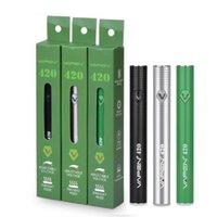 VAPEN 420 예열 배터리 420mAh 예열 VV vape 상자 mod 조정 가능한 가변 전압 하단 USB 510 자아 두꺼운 오일 카트리지