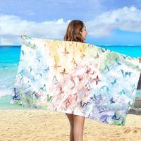 Designer Weiche Badetücher Große absorbierende Strandgesicht Baumwolltuch Home Badezimmer Erwachsene Kinder Freies Schiff