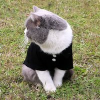 6 Colors Solid Dog Apparel Summer Breathable Pet POLO Shirts Trendy Personality Charm Cat Cotton T Shirt