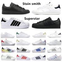 Adidas حذاء رياضي رجالي كلاسيكي من OG ستان سميث سوبرستار فضي قزحي الألوان ثلاثي أسود أبيض أخضر منصة نجوم مدربين رجال ونساء أحذية رياضية رياضية