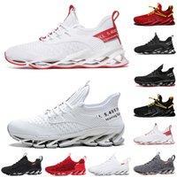 Hommes non-marques Femmes Running Chaussures Chaussures Blade Slip sur Noir Blanc Toute Red Gris Gream Warriors Mens Gym entraîneurs Sports sportifs en plein air 39-46