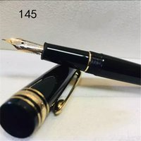 جودة عالية الذهب كليب / فضة كليب 145 الأسطوانة الكرة القلم القرطاسية زهرة الكتابة الأقلام مكتب التموين هدية