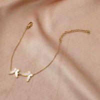 مينار الصيف اللون الأبيض قذيفة فراشة الخلخال للنساء الفتيات الذهب لون سبائك سلسلة سحر خلخال شاطئ اكسسوارات Q0605