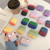 Gradient Earphone Case for Airpods 1 2 3 Colorful For AirPods Pro New PC Hard Cute Cover Box Cases With OPP Bag
