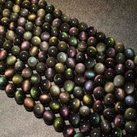 Perles de pierre naturelles, obsidienne, yeux à double couleur, bracelets de bricolage ronds, colliers, accessoires, fabrication de bijoux 6 8 10 12 perles, brins