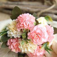 Blanco Daisy Flores artificiales Rama Bola Balle Bouquet Hogar Jardín Decoración DIY Brida Seda Falso Flor Accesorios Decorativos Trade