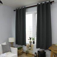 Tenda per tende europee Semi-ombreggiatura a colori solido Grigio Grigio Soggiorno Camera da letto Bay Window Tende per bambini Sfondo