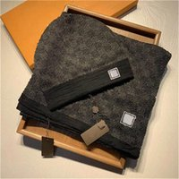 2022Hoher Qualität Hutschal Set für Männer und Frauen Winter Wollschal Design T Wool Beanie Wrap Scarf1