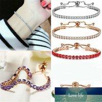 Elegant Crystal Charm Bracelets for Women Fashion Cubic Zirconia Tennis Bracelet Bangle Wedding Daily Jewelry Adjustable Gift