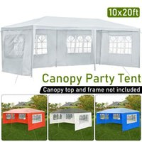 3x6M Outdoor Tent Cloth 3 Sides Waterproof And UV-Proof Sunshade Pavilion Side Board With Window Oxford Cloth Party Camping Tent