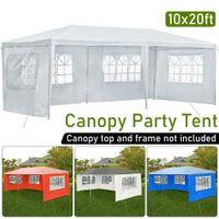 3x6m Открытый палатка ткань 3-х сторон водонепроницаемый и ультрафиолетовый солнечный павильон боковой доске с окном Оксфорд ткань вечеринка для кемпинга палатка