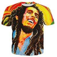 T-shirt da uomo Bob Marley Unisex Fashion cool 3D stampato stile casual Tshirt Streetwear Top hip hop shirt