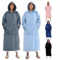 Blanket With Sleeves Women Oversized Hoodie Fleece Warm Thick Hoodies Sweatshirts Long Women Men Hoody Pullover Robe Women's &