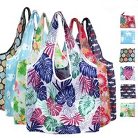 New Home Cartoon Animal Design Foldable Polyester Environmentally Friendly Portable Large Capacity Reusable Shopping Bag