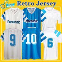 Ретро Maillot OM 1990 1991 1993 футбол для футбола Papin Boli Cantona Waddle Pele Vintage 90 91 93 классическая футболка