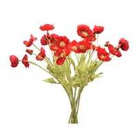 Decorative Flowers & Wreaths 5 Bunches Of Poppies Artificial Living Room Home Garden Wedding El Decoration Christmas Flower