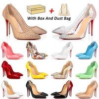 С коробкой 2021 Прибытие Красное Нижние Высокие каблуки Обувь Обувь Платформа Дизайнер Плоский Платье Обувь Стелето Женщины Мода Свадьба Люксы Близнецы Натуральные Кожаные Мокасины