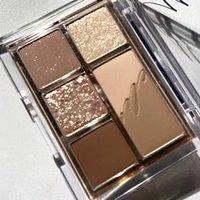 Eye Shadow 6 Color Matte Earth Eyeshadow Palette Shimmer Glitter Waterproof Long-lasting Korean Makeup Set