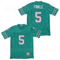 Film Football College 5 Ray Finkink Jersey L'ACE Ventura Jim Carrey Teal Équipe vert Color Color Color Color Broderie et cousu sur du coton pur de haute qualité