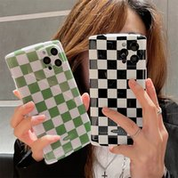 Iphone 12 Pro Phone Cases Luggage Glossy Checkerboard For 11 Max XS 7 8Plus TPU Screen Back Cover Protective Case